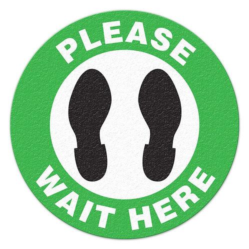Please Wait Here - Floor Sign