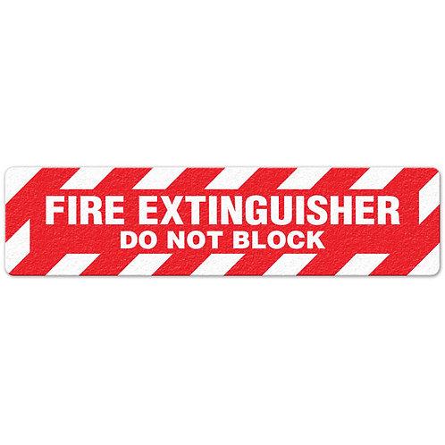 Fire Extinguisher - Do Not Block Floor Sign