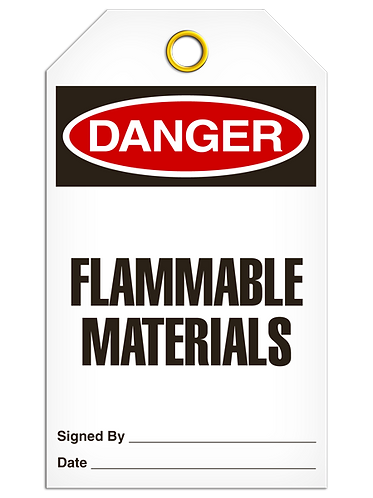 DANGER - Flammable Materials