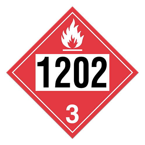 Diesel Fuel, Fuel Oil Truck Placards