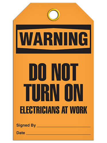 WARNING - Do Not Turn On Electrician At Work