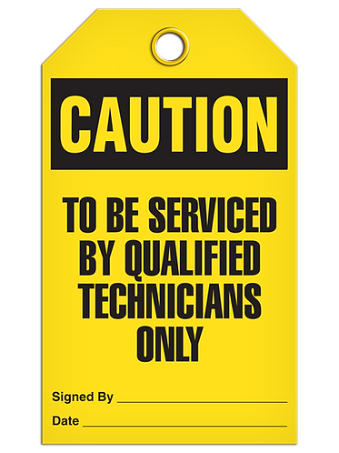 CAUTION - To Be Serviced By Qualified Technicians Only