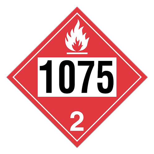 Anhydrous Liquefied Petroleum Gases Truck Placards