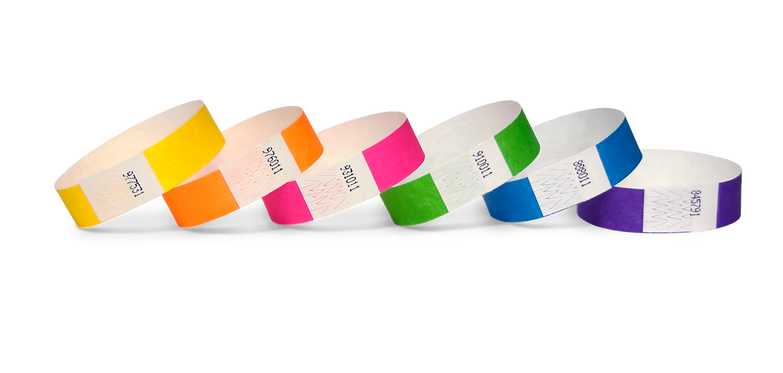 Muti Colored Tyvek Wristbands