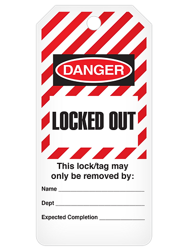 LOCKOUT Tag Roll  -  Locked Out