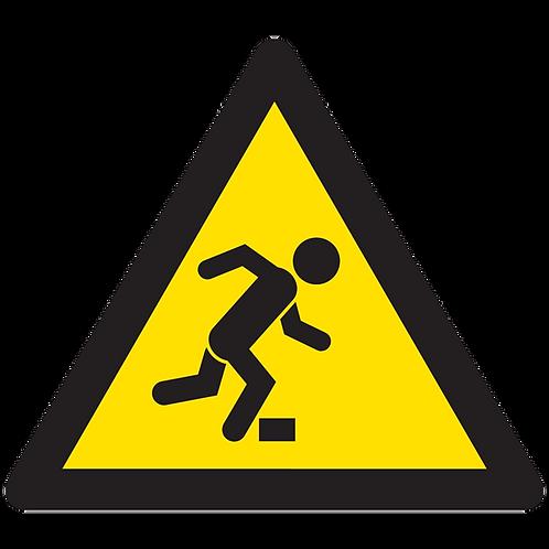 WARNING - Tripping Hazard