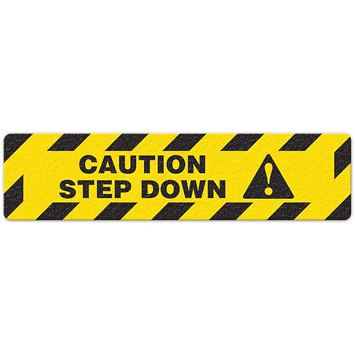 Caution - Step Down Floor Sign