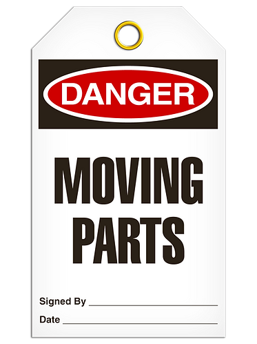DANGER  -  Moving Parts
