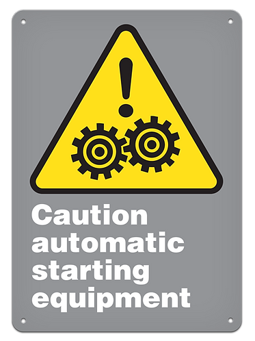 CAUTION - Caution Automatic Starting Equipment