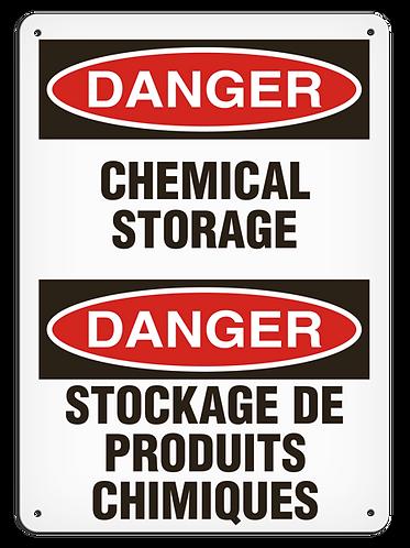 BILINGUAL DANGER - Chemical Storage