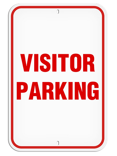 PARKING LOT SIGNS - Visitor Parking