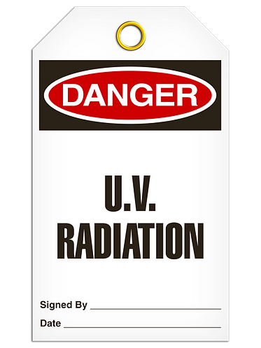 DANGER  -  U.V. Radiation