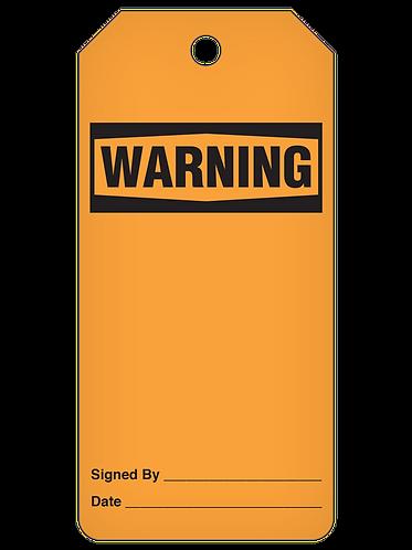 WARNING Tag Roll  -  Blank