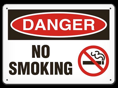 DANGER - No Smoking Safety Sign