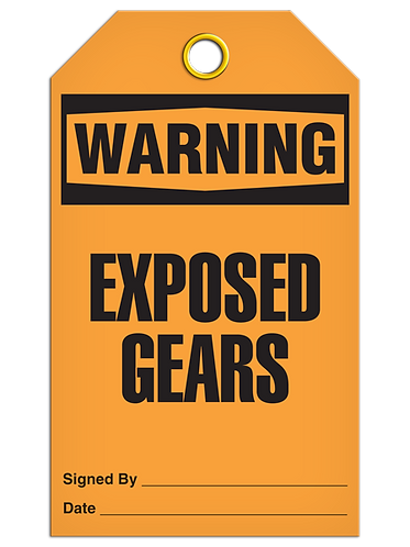 WARNING - Exposed Gears