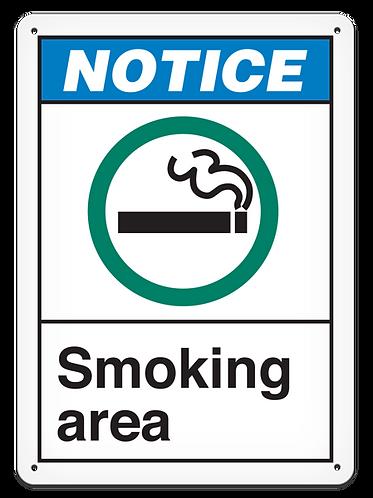 NOTICE - Smoking Area