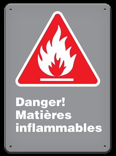 Danger - Danger! Matières inflammables