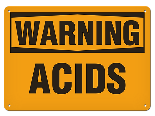 WARNING - Acids