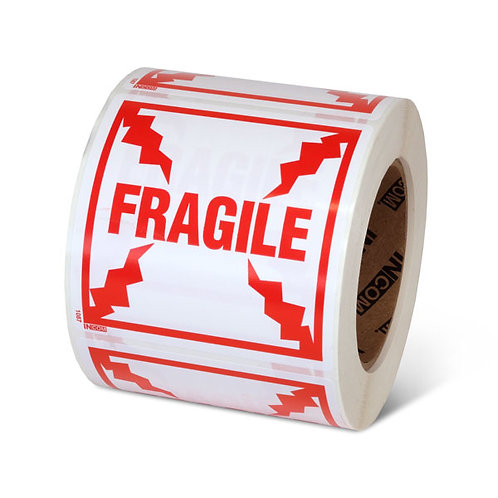 "FRAGILE - 4"" x 4"" Handling Label"