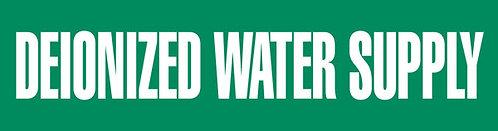 PM1082 - DEIONIZED WATER SUPPLY