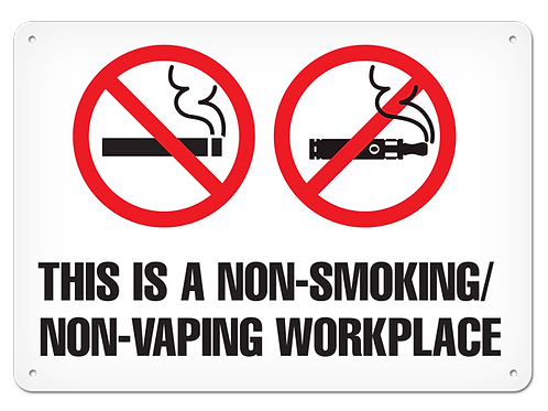 Non-Smoking/Vaping Workplace Sign