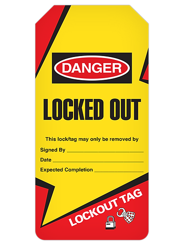 LOCKOUT Tag Roll  -  Locked Out (Lightning Bolt)