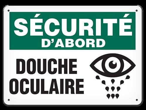 SÉCURITÉ D'ABORD - Douche oculaire