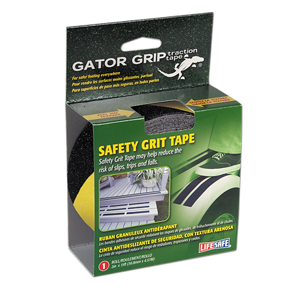 Gator Grip® Anti-Slip Safety Grit Tape 15ft (Yellow/Black)
