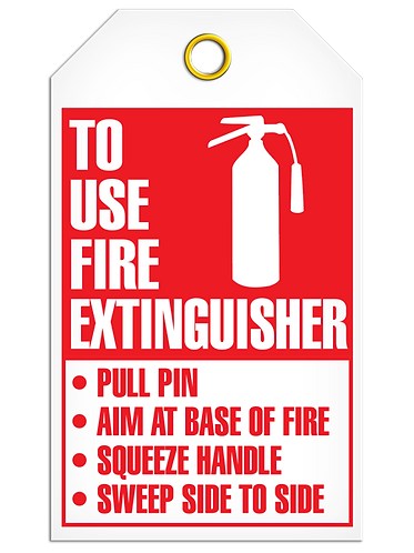 Inspection  -  How To Use Extinguisher and Inspection Record