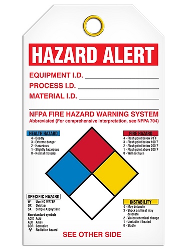 NFPA Diamond Tag - Personal Protection