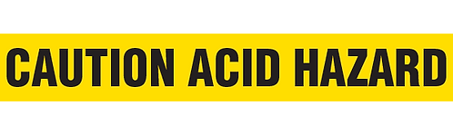 CAUTION ACID HAZARD