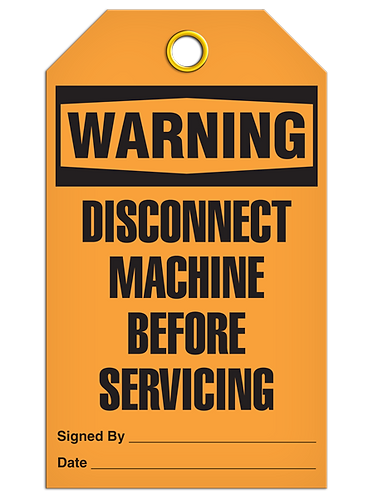 WARNING - Disconnect Machine Before Servicing