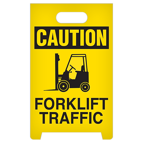 A-Frame Standing Floor Sign - CAUTION - Forklift Traffic