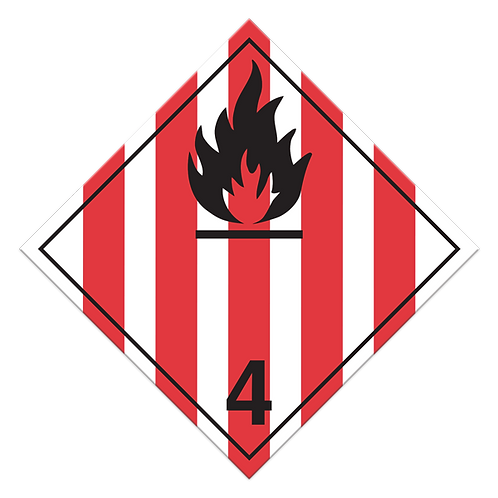Class 4.1 - Flammable Solids Truck Placards