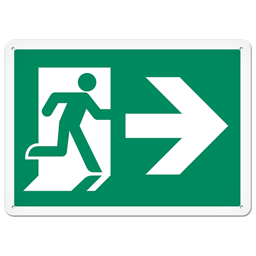 FIRE SIGNS - Exit (Right)