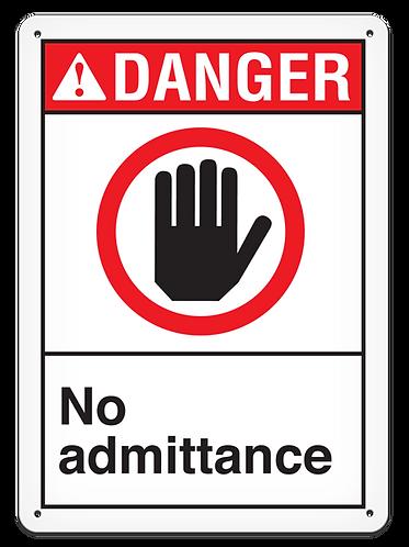 DANGER - No Admittance