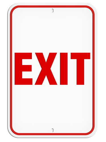 PARKING LOT SIGNS - Exit