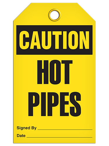 CAUTION - Hot Pipes