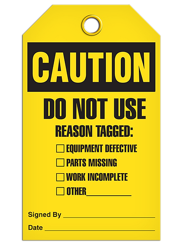 CAUTION Do Not Use Reason Tagged