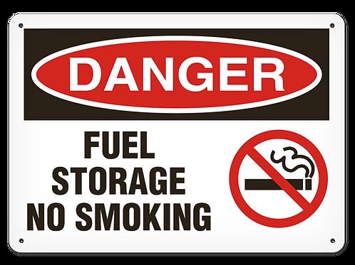 DANGER - Fuel Storage No Smoking Safety Sign
