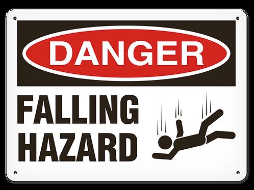 DANGER - Falling Hazard Safety Sign