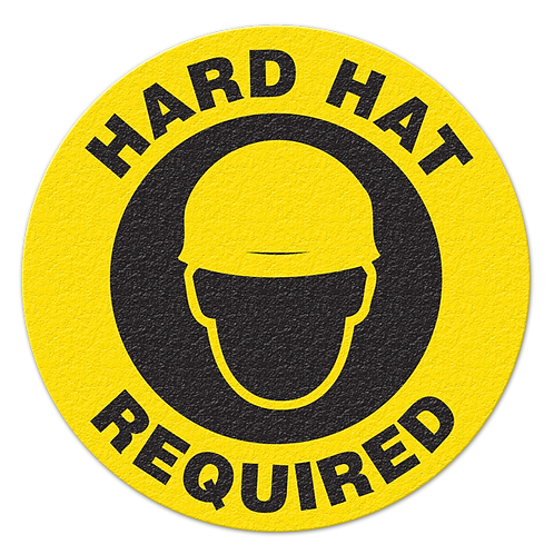 Hard Hat Required Floor Sign