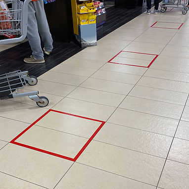 Grocery Store Red Floor Tape