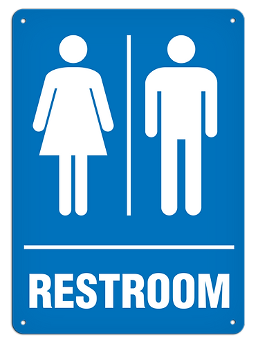 Restroom Female/Male Sign