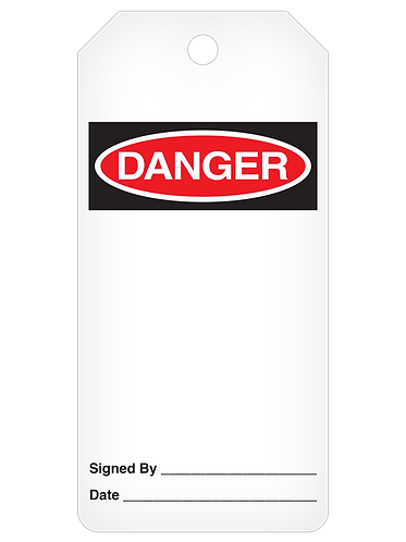 DANGER Tag Roll  -  Blank