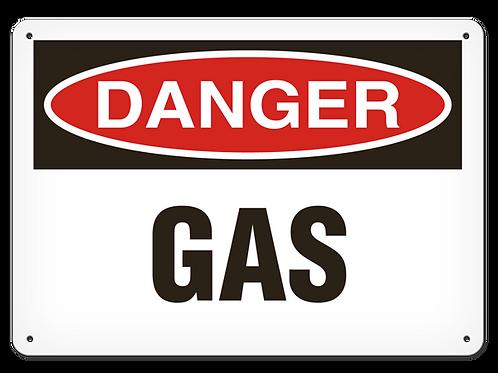 DANGER - Gas Safety Sign
