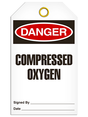 DANGER  -  Compressed Oxygen