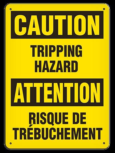 BILINGUAL CAUTION - Tripping Hazard