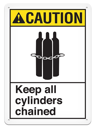 CAUTION - Keep All Cylinders Chained