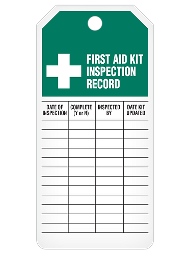 INSPECTION Tag Roll  -  First Aid Kit
